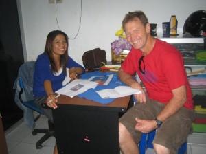 Erni and David at Adopta Coop