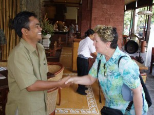 Indonesian language teacher, Roisin and Bali co-ordinator