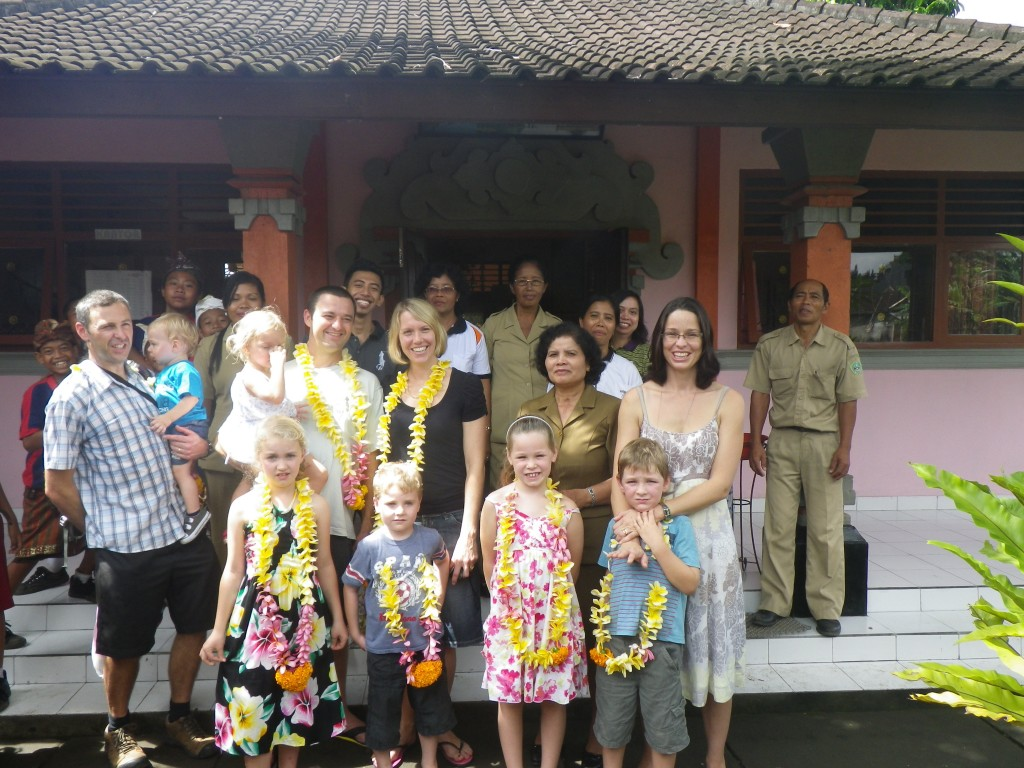 Young and Munns families and staff