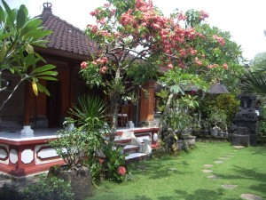 Beautiful gardens at Alit's homestay