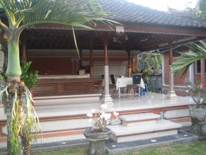 Eating area at Alit's homestay