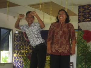 Joyful time at SD2 Pegadungan June 2012
