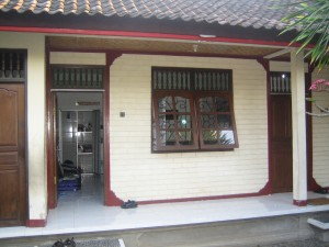 Outside the room at Alit's homestay