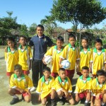 Thanks to Melville Soccer Club who donated soccer tops for schools in Bali. Soccer uniforms 1 SD4 Pelaga