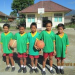 Thanks to Melville Soccer Club who donated soccer tops for schools in Bali Soccer SD4 Pelaga