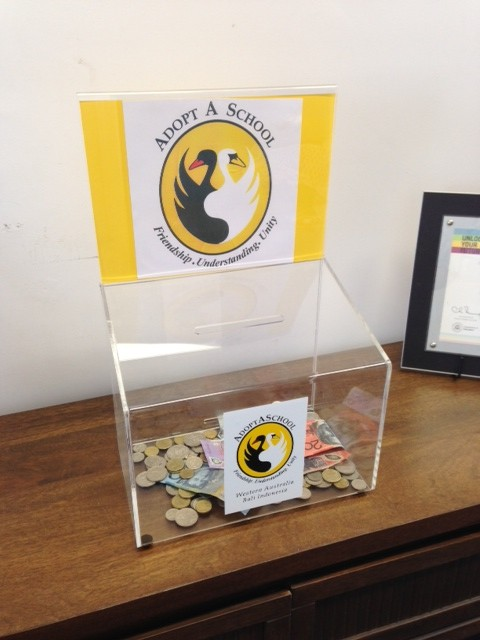 Donation box from Dalkeith PS