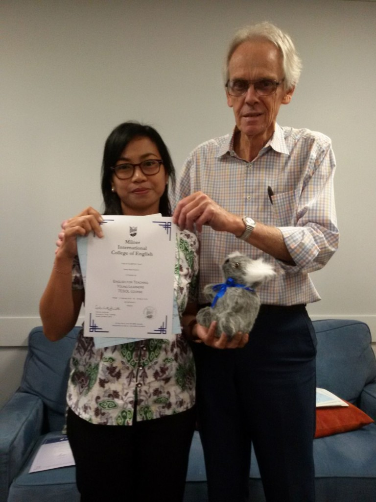 Ibu Desak Rukmini with Principal Mr Warren Milner